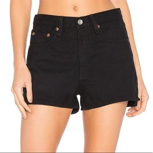 Rag & Bone Justine High-Rise Denim Shorts - 25